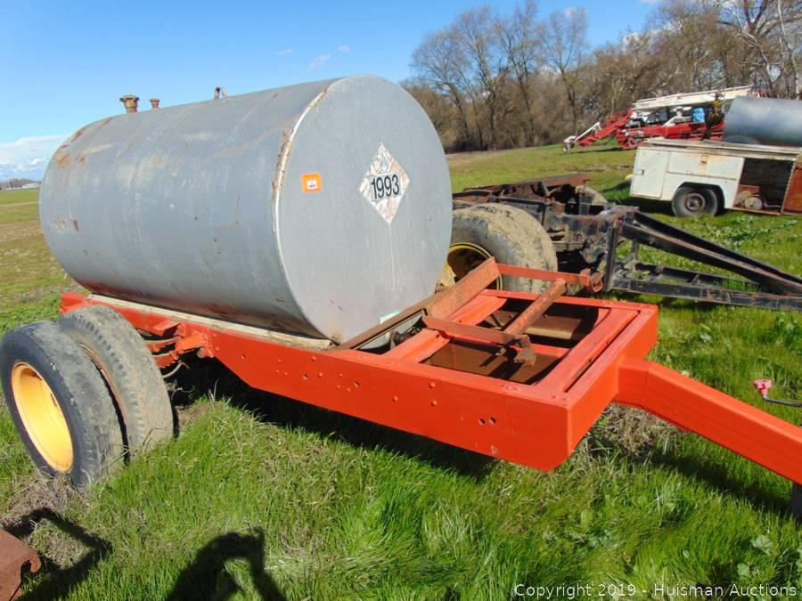 500 Gallon Fuel Tank >> 500 Gallon Fuel Tank On Single Axle Trailer No Pump